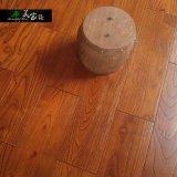 金刚柚地板纯实木浮雕仿古浅色深色双拼宽板