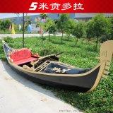 贡多拉游船澳门威尼斯人酒店景观装饰摄影木船欧式手划船客船