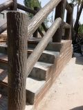 水泥仿木护栏 涵管  仿木长廊   仿古墙帽  仿木花箱  水磨石
