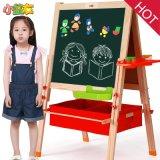 木制益智玩具 儿童画板 写字板 绘画架黑白双面木制磁性画板