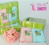 直销神州行定制logo通信行业积分礼品促销宣传两条装礼盒毛巾