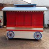 生产流动售货车 木制售货车 售货亭 防腐木售卖亭