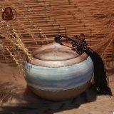 长沙铜官窑手工釉下多彩窑变釉密封陶瓷茶叶罐普洱储物罐