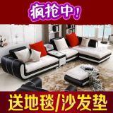 布艺沙发皮,配布沙发,现代简约大款客厅转角沙发