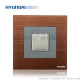 现代开关插座hyundai新款热卖开关插座K70系列86型轻触延时开关