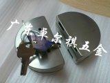厂家直销不锈钢半圆玻璃门锁 中央玻璃门锁 304不锈钢玻璃锁