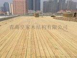 青岛防腐木栈道安装木平台厂家