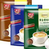 经典烘焙无添加糖速溶炭烧咖啡台湾固体饮料蓝山黄金曼特宁三合一