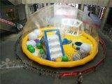 大型新款充气水晶宫百万海洋球池透明帐篷气模儿童乐园游乐设备