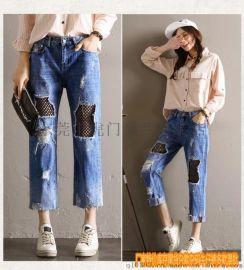 陝西延安女式牛仔褲批發時尚爆款女裝牛仔褲哪裏廠家直銷