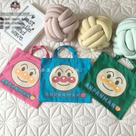 儿童卡通帆布包 迷你帆布袋 彩色棉布袋 可定制 学生礼品袋