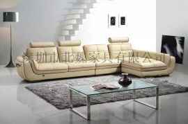 深圳北魏现代头层真皮沙发客厅转角沙发中厚皮高档沙发