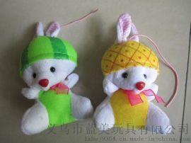 义乌毛绒兔子公仔玩偶定制 来图来样设计订做 厂家报价