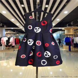 广州一线品牌折扣女装茜可可独家剪标批发