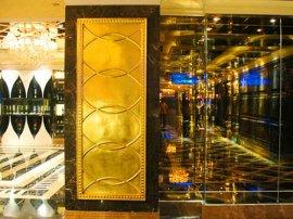 玻璃钢KTV装饰电镀金色树脂大门定做厂家