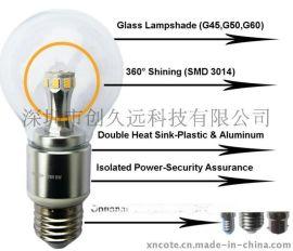 6W高流明值360度球泡灯出厂价格