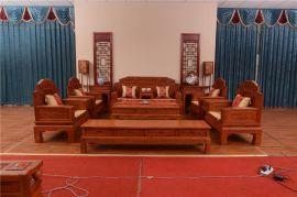 济南红木家具厂家,锦上添花沙发,红木家具沙发价格,花梨木沙发厂家