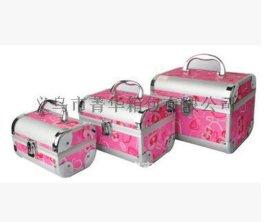 菁华大光铝材做长三件套女士化妆箱专用珠宝首饰品收纳盒JH-089