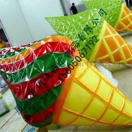 厦门玥诚玻璃钢甜筒造型雕塑 秋冬季度橱窗展示道具定制