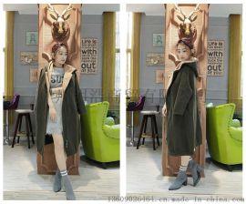 服裝品牌折扣羊駝絨大衣批發銷售找廣州明浩折扣女裝