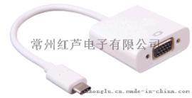 厂家直销 USB TYPE-C to VGA 转接器