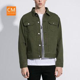 CM原创品牌牛仔夹克秋季批发夹克男款欧美潮牌厂家直销一件代发