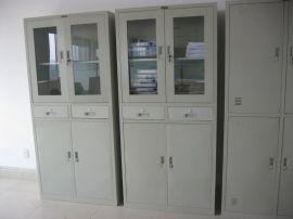 办公室铁皮文件柜 办公室文件资料收纳 玻璃对开门