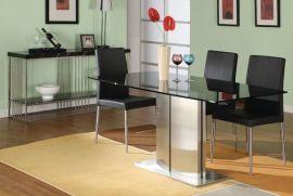 玻璃面不锈钢餐桌F819GB