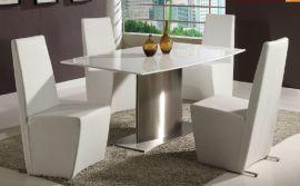 大理石不锈钢餐桌HC-F806