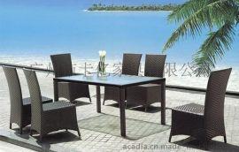 PE仿藤桌椅 休闲桌椅 户外桌椅