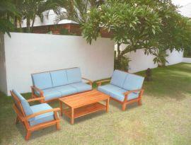 户外家具实木沙发咖啡桌