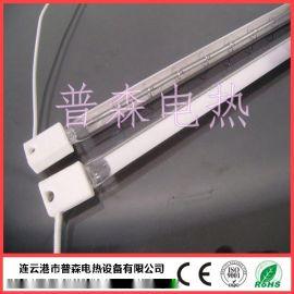 小方头石英玻璃电热管 SK15瓷头卤素石英加热管