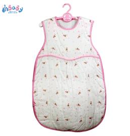 新款純棉開肩紗布睡袋 嬰幼兒夾棉背心寶寶睡袋 新生兒保暖防踢被