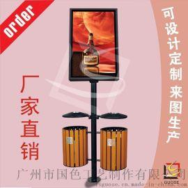 环保垃圾桶灯箱 果皮桶广告灯箱 灯箱厂家 可来图定制