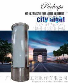 不锈钢圆柱旋转LED广告包柱墙灯箱广告产地货源厂家直销定制特价