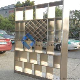 不锈钢装饰工程 玫瑰金黑钛不锈钢屏风 镂空装饰金属断