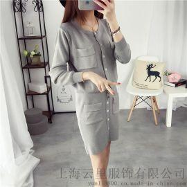 【云里服饰】上海针织衫加工厂女装针织衫连衣裙