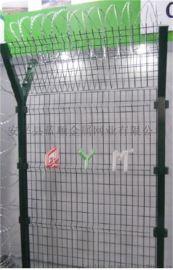 【护栏网厂家】直销50*200三角折弯护栏网 桃形柱护栏网
