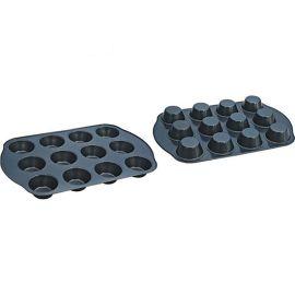 蛋糕模烤盘 带耳烘焙烤盘 碳钢不粘马芬杯12连杯模蛋糕模