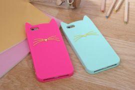 苹果6手机套 猫咪硅胶手机套 中国供应商