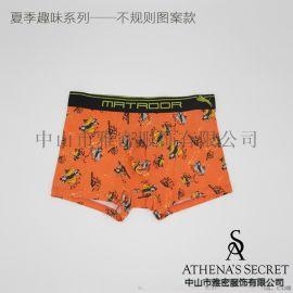 男士再生纤维素纤维车缝平角裤