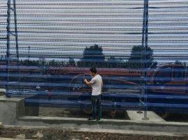 安平县雨浓实体厂家生产金属防风抑尘网 单峰双峰三峰 专业设计施工安装