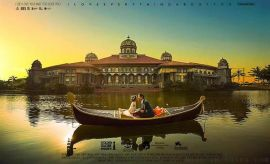 阳澄湖旅游景区观光船中式手划船欧式贡多拉木船