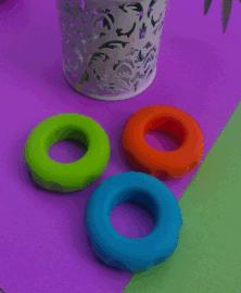 供应硅胶握力器 硅胶运动器材 握力圈 无毒环保硅胶懒人用品创意