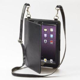 ipad2皮套定制生产加工批发背带式挂绳款