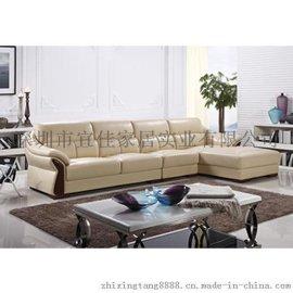 大小户型组合沙发 真皮沙发组合头层黄牛珠光皮休闲沙发S081