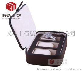 多款皮革手表盒子手链手表收纳盒男友礼物 天窗展示盒手表箱