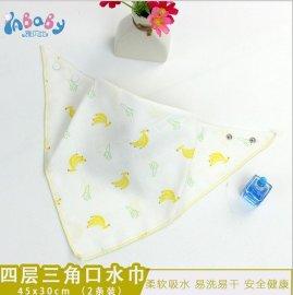 雅贝比婴儿纯棉纱布口水巾,品质保证厂家批发