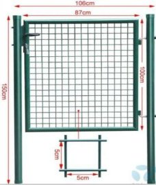渤洋专业生产绿铁丝护栏门
