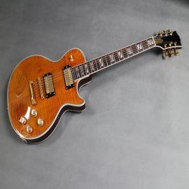 精品双鼓面电吉他,虎纹贴面LP,金色配件,批发定制